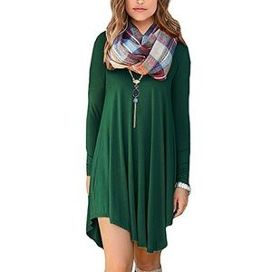 🆕⭐Hunter green asymmetrical t-shirt dress⭐